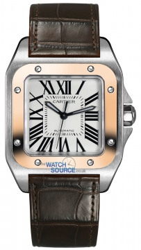Cartier Santos 100 Medium Midsize watch, model number - w20107x7, discount price of £6,028.00 from The Watch Source