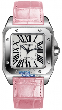 Cartier Santos 100 Medium Midsize watch, model number - w20126x8, discount price of £3,910.00 from The Watch Source