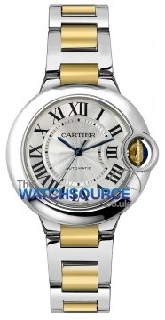 Cartier Ballon Bleu 33mm w2bb0002 watch