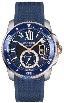Buy this new Cartier Calibre de Cartier Diver w2ca0009 mens watch for the discount price of £7,920.00. UK Retailer.