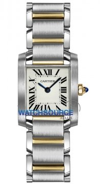 Cartier Tank Francaise Small Ladies watch, model number - w51007q4, discount price of £4,320.00 from The Watch Source