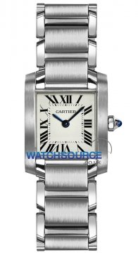 Cartier Tank Francaise Small Ladies watch, model number - w51008q3, discount price of £2,635.00 from The Watch Source