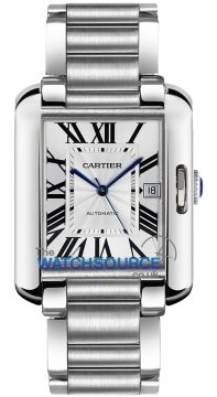 Cartier Tank Anglaise Large Mens watch, model number - w5310008, discount price of £5,016.00 from The Watch Source