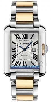 Cartier Tank Anglaise Medium Automatic Ladies watch, model number - w5310047, discount price of £5,650.00 from The Watch Source