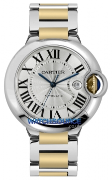 Cartier Ballon Bleu 42mm Mens watch, model number - w69009z3, discount price of £6,290.00 from The Watch Source