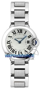 Cartier Ballon Bleu 28mm Ladies watch, model number - w69010z4, discount price of £3,256.00 from The Watch Source