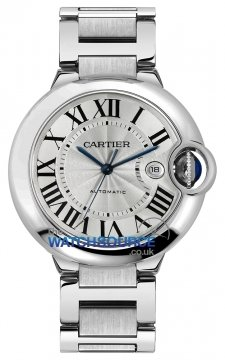 Cartier Ballon Bleu 42mm Mens watch, model number - w69012Z4, discount price of £4,620.00 from The Watch Source