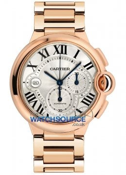 Cartier Ballon Bleu Chronograph Mens watch, model number - w6920010, discount price of £26,135.00 from The Watch Source