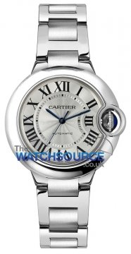 Cartier Ballon Bleu 33mm Ladies watch, model number - w6920071, discount price of £4,048.00 from The Watch Source