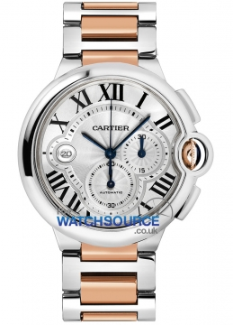 Cartier Ballon Bleu Chronograph Mens watch, model number - w6920075, discount price of £9,265.00 from The Watch Source