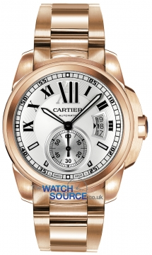 Buy this new Cartier Calibre de Cartier 42mm w7100018 mens watch for the discount price of £34,650.00. UK Retailer.
