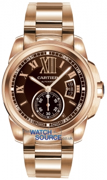Cartier Calibre de Cartier 42mm Mens watch, model number - w7100040, discount price of £30,515.00 from The Watch Source