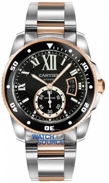 Cartier Calibre de Cartier Diver Mens watch, model number - w7100054, discount price of £9,090.00 from The Watch Source