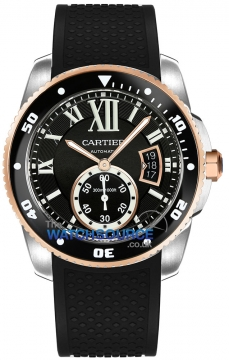 Buy this new Cartier Calibre de Cartier Diver w7100055 mens watch for the discount price of £7,920.00. UK Retailer.