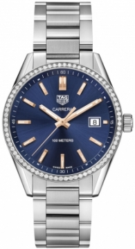Buy this new Tag Heuer Carrera Quartz war1114.ba0601 ladies watch for the discount price of £2,932.00. UK Retailer.