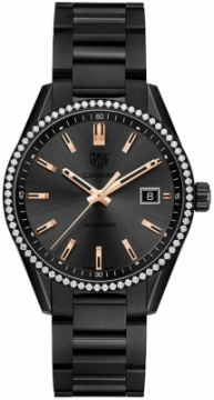 Buy this new Tag Heuer Carrera Quartz war1115.ba0602 ladies watch for the discount price of £3,272.00. UK Retailer.