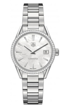 Buy this new Tag Heuer Carrera Quartz war1315.ba0778 ladies watch for the discount price of £2,465.00. UK Retailer.