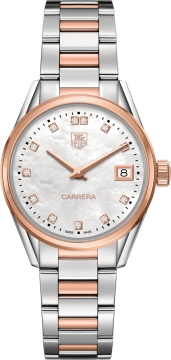 Buy this new Tag Heuer Carrera Quartz war1352.bd0779 ladies watch for the discount price of £2,970.00. UK Retailer.