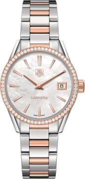 Buy this new Tag Heuer Carrera Quartz war1353.bd0779 ladies watch for the discount price of £4,455.00. UK Retailer.