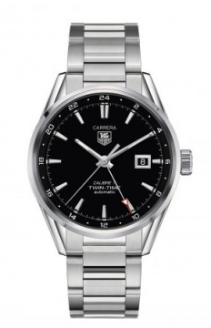 Buy this new Tag Heuer Carrera Twin Time 41mm war2010.ba0723 mens watch for the discount price of £2,082.00. UK Retailer.