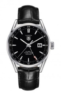 Tag Heuer Carrera Twin Time 41mm Mens watch, model number - war2010.fc6266, discount price of £1,870.00 from The Watch Source