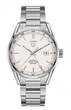 Tag Heuer Carrera Twin Time 41mm Mens watch, model number - war2011.ba0723, discount price of £1,965.00 from The Watch Source