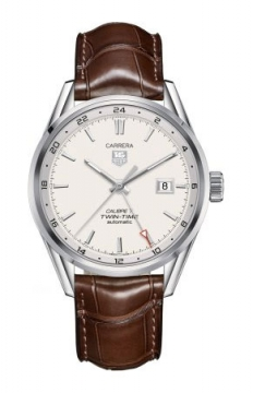 Tag Heuer Carrera Twin Time 41mm Mens watch, model number - war2011.fc6291, discount price of £1,804.00 from The Watch Source