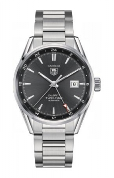 Tag Heuer Carrera Twin Time 41mm Mens watch, model number - war2012.ba0723, discount price of £1,963.00 from The Watch Source
