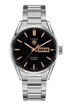 Tag Heuer Carrera Caliber 5 Day Date Mens watch, model number - war201c.ba0723, discount price of £1,763.00 from The Watch Source