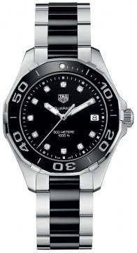 Buy this new Tag Heuer Aquaracer Quartz Ladies 35mm way131c.ba0913 ladies watch for the discount price of £1,485.00. UK Retailer.