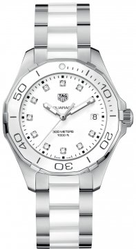 Buy this new Tag Heuer Aquaracer Quartz Ladies 35mm way131d.ba0914 ladies watch for the discount price of £1,360.00. UK Retailer.
