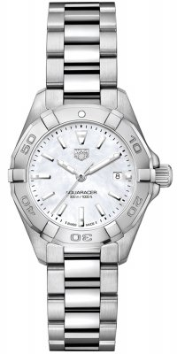 Buy this new Tag Heuer Aquaracer Quartz Ladies 27mm wbd1411.ba0741 ladies watch for the discount price of £977.00. UK Retailer.