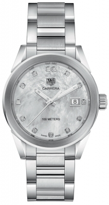 Buy this new Tag Heuer Carrera Quartz wbg1312.ba0758 ladies watch for the discount price of £1,700.00. UK Retailer.