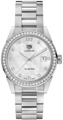 Buy this new Tag Heuer Carrera Quartz wbg1315.ba0758 ladies watch for the discount price of £2,890.00. UK Retailer.