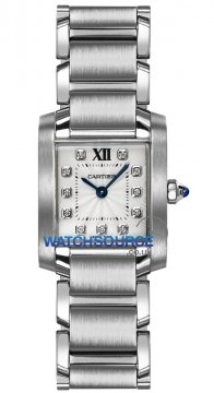 Cartier Tank Francaise Small Ladies watch, model number - we110006, discount price of £3,696.00 from The Watch Source