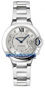 Cartier Ballon Bleu 33mm Ladies watch, model number - we902074, discount price of £5,192.00 from The Watch Source