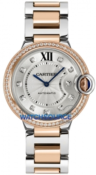 Cartier Ballon Bleu 36mm Ladies watch, model number - we902078, discount price of £13,430.00 from The Watch Source