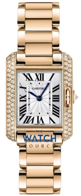 Buy this new Cartier Tank Anglaise Small wt100002 ladies watch for the discount price of £25,740.00. UK Retailer.
