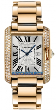 Cartier Tank Anglaise Medium Automatic Ladies watch, model number - wt100003, discount price of £36,000.00 from The Watch Source