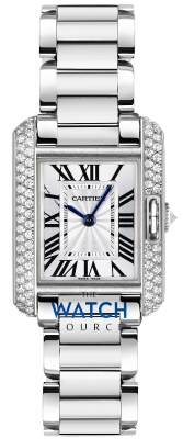 Cartier Tank Anglaise Small Ladies watch, model number - wt100008, discount price of £26,945.00 from The Watch Source