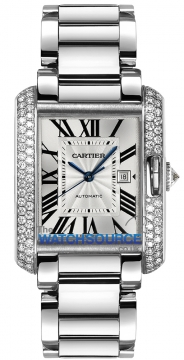 Cartier Tank Anglaise Medium Automatic Ladies watch, model number - wt100009, discount price of £38,675.00 from The Watch Source