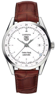 Tag Heuer Carrera Twin Time Mens watch, model number - wv2116.fc6181, discount price of £1,775.00 from The Watch Source