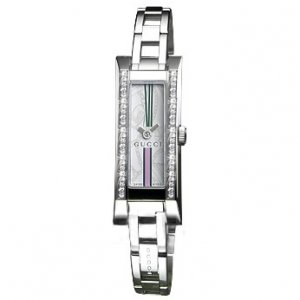 Buy this new Gucci 110 G Link Series YA110508 ladies watch for the discount price of £980.00. UK Retailer.