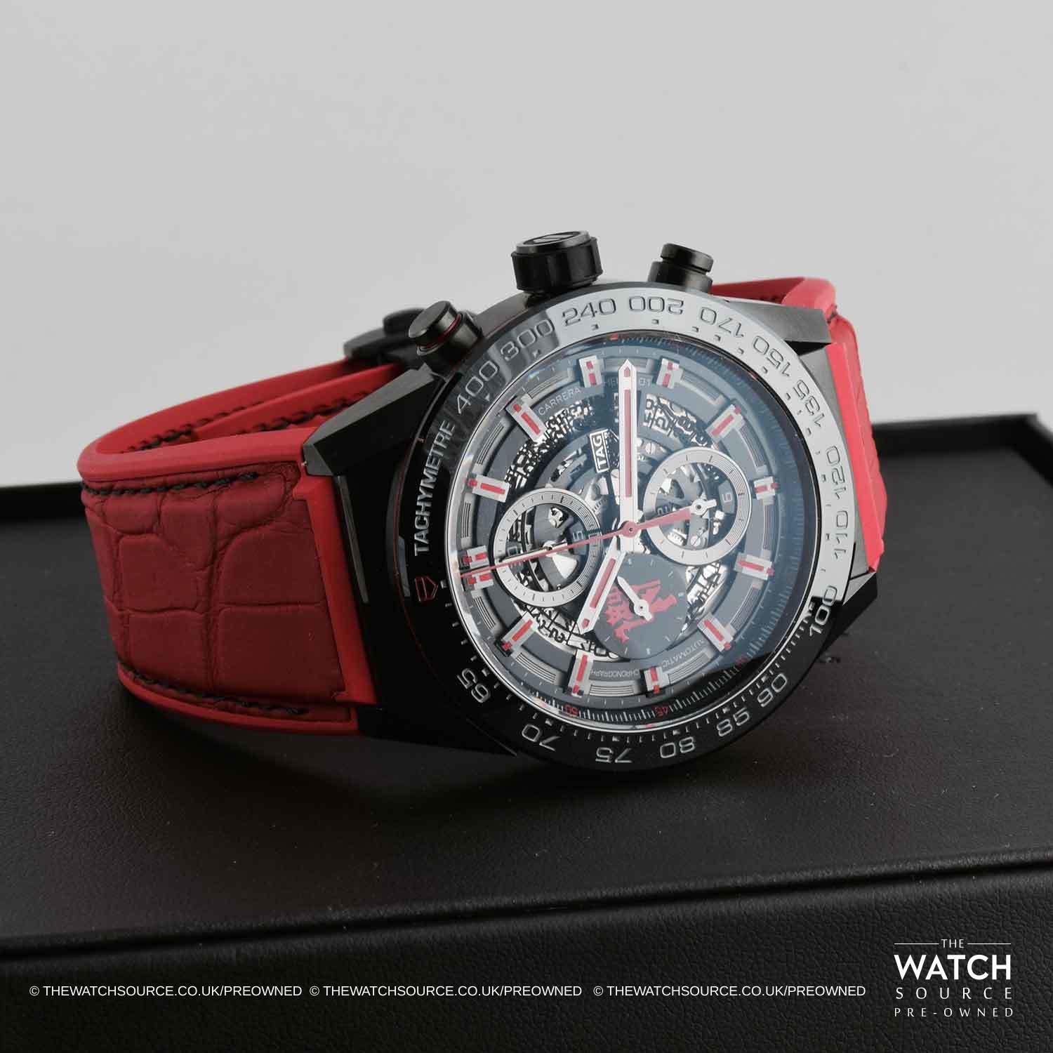 Pre owned tag heuer carrera 01 manchester united car2a1j fc6416 for Tag heuer carrera